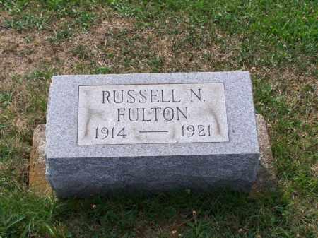 FULTON, RUSSELL N - Belmont County, Ohio | RUSSELL N FULTON - Ohio Gravestone Photos