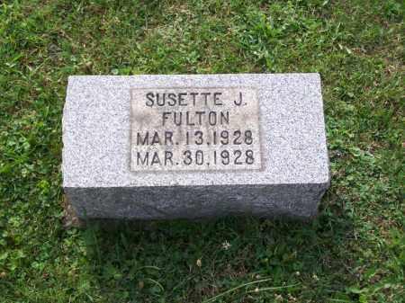FULTON, SUSETTE J - Belmont County, Ohio   SUSETTE J FULTON - Ohio Gravestone Photos