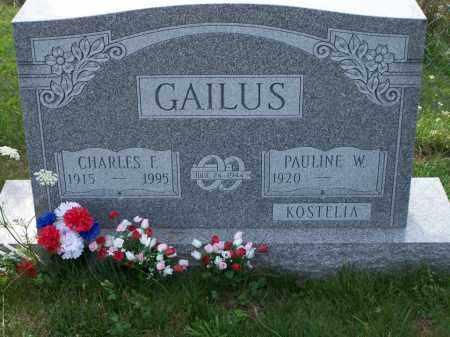 GAILUS, CHARLES F - Belmont County, Ohio | CHARLES F GAILUS - Ohio Gravestone Photos