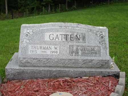 GATTEN, THURMAN W. - Belmont County, Ohio | THURMAN W. GATTEN - Ohio Gravestone Photos