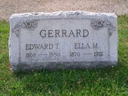 GERRARD, EDWARD T - Belmont County, Ohio   EDWARD T GERRARD - Ohio Gravestone Photos