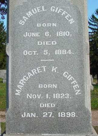 GIFFEN, SAMUEL - Belmont County, Ohio   SAMUEL GIFFEN - Ohio Gravestone Photos