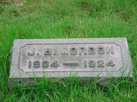 GORDON, J. B. - Belmont County, Ohio | J. B. GORDON - Ohio Gravestone Photos