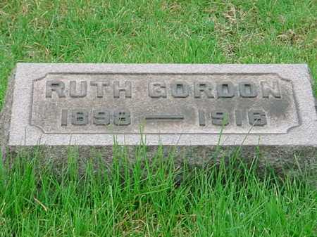 GORDON, RUTH - Belmont County, Ohio   RUTH GORDON - Ohio Gravestone Photos
