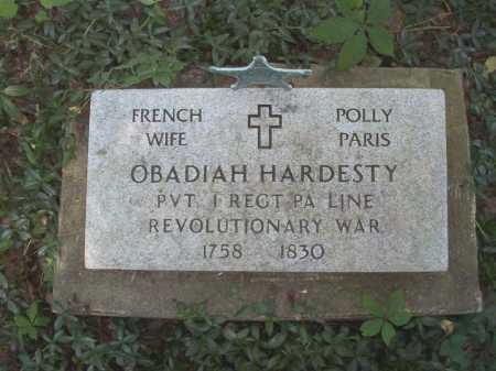 HARDESTY, OBADIAH - Belmont County, Ohio | OBADIAH HARDESTY - Ohio Gravestone Photos