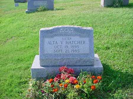 HATCHER, ALTA V. - Belmont County, Ohio | ALTA V. HATCHER - Ohio Gravestone Photos