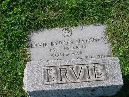 HATCHER, ERVIE B. - Belmont County, Ohio   ERVIE B. HATCHER - Ohio Gravestone Photos