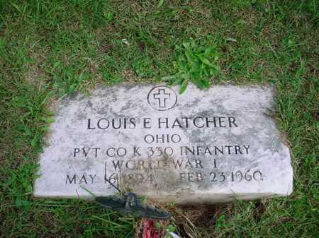 HATCHER, LOUIS E. - Belmont County, Ohio   LOUIS E. HATCHER - Ohio Gravestone Photos