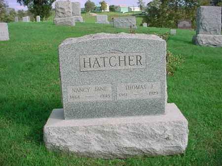 HATCHER, NANCY JANE - Belmont County, Ohio | NANCY JANE HATCHER - Ohio Gravestone Photos
