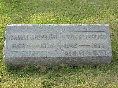 HEPBURN, ISABELL J. - Belmont County, Ohio | ISABELL J. HEPBURN - Ohio Gravestone Photos