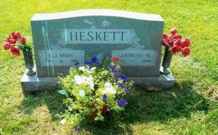 HESKETT, GERTRUDE - Belmont County, Ohio | GERTRUDE HESKETT - Ohio Gravestone Photos