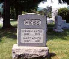 HESS, MARY AGNES - Belmont County, Ohio | MARY AGNES HESS - Ohio Gravestone Photos