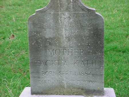 KALIL, TACKLA - Belmont County, Ohio | TACKLA KALIL - Ohio Gravestone Photos