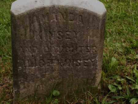 KINSEY, AMANDA - Belmont County, Ohio | AMANDA KINSEY - Ohio Gravestone Photos