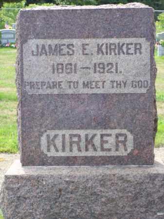 KIRKER, JAMES E - Belmont County, Ohio   JAMES E KIRKER - Ohio Gravestone Photos