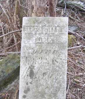 LEE, UNKNOWN WILLIAM - Belmont County, Ohio | UNKNOWN WILLIAM LEE - Ohio Gravestone Photos