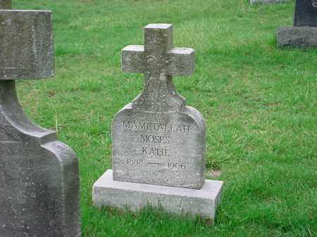 MAMETALLAH, MOSES KAIIL - Belmont County, Ohio | MOSES KAIIL MAMETALLAH - Ohio Gravestone Photos