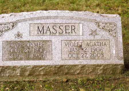 MASSER, VIOLET AGATHA - Belmont County, Ohio | VIOLET AGATHA MASSER - Ohio Gravestone Photos