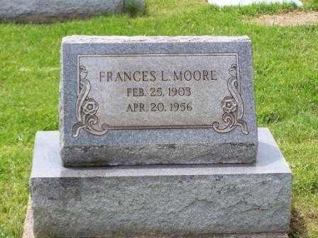MOORE, FRANCES L - Belmont County, Ohio | FRANCES L MOORE - Ohio Gravestone Photos