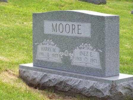 MOORE, HARRY M - Belmont County, Ohio | HARRY M MOORE - Ohio Gravestone Photos