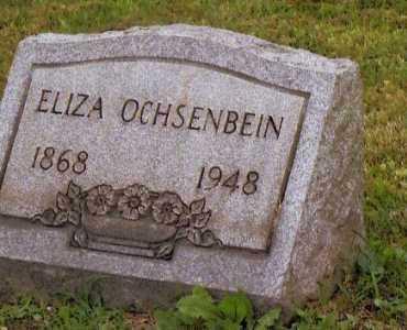 OCHSENBEIN, ELIZA - Belmont County, Ohio   ELIZA OCHSENBEIN - Ohio Gravestone Photos