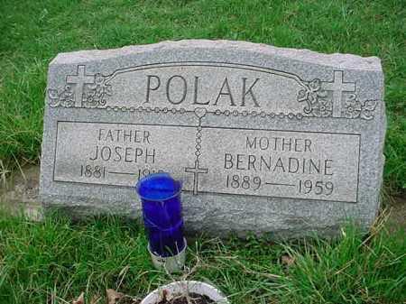 POLAK, BERNADINE - Belmont County, Ohio | BERNADINE POLAK - Ohio Gravestone Photos