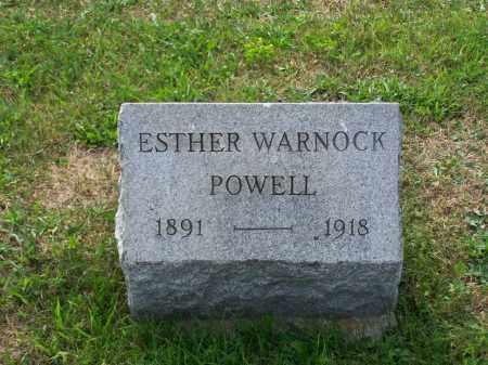 WARNOCK POWELL, ESTHER - Belmont County, Ohio   ESTHER WARNOCK POWELL - Ohio Gravestone Photos