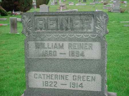 GREEN REINER, CATHERINE - Belmont County, Ohio | CATHERINE GREEN REINER - Ohio Gravestone Photos