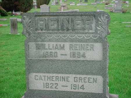 GREEN REINER, CATHERINE - Belmont County, Ohio | CATHERINE GREEN REINER - Ohio Gravestone Photos