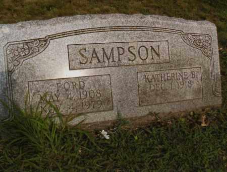 SAMPSON, KATHERINE  ELIZABETH - Belmont County, Ohio   KATHERINE  ELIZABETH SAMPSON - Ohio Gravestone Photos