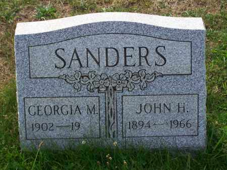 SANDERS, GEORGIA M - Belmont County, Ohio   GEORGIA M SANDERS - Ohio Gravestone Photos