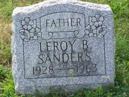 SANDERS, LEROY B - Belmont County, Ohio   LEROY B SANDERS - Ohio Gravestone Photos