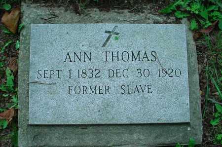 THOMAS, ANN - Belmont County, Ohio   ANN THOMAS - Ohio Gravestone Photos