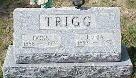 TRIGG, DOSS - Belmont County, Ohio | DOSS TRIGG - Ohio Gravestone Photos