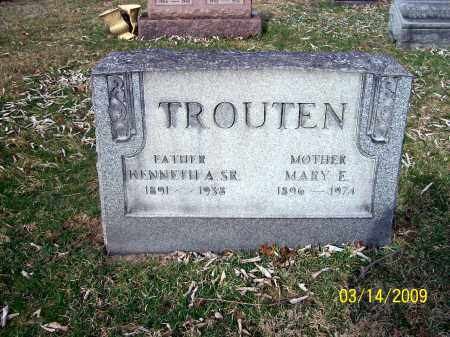 MILLS TROUTEN, MARY E - Belmont County, Ohio | MARY E MILLS TROUTEN - Ohio Gravestone Photos
