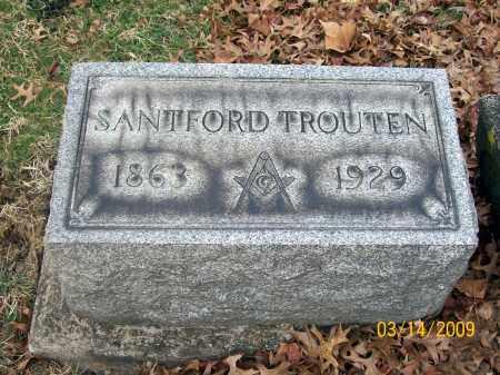 TROUTEN, SANTFORD - Belmont County, Ohio   SANTFORD TROUTEN - Ohio Gravestone Photos