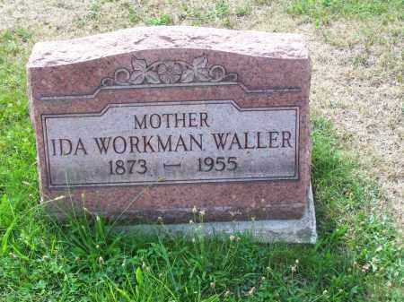 WORKMAN WALLER, IDA - Belmont County, Ohio   IDA WORKMAN WALLER - Ohio Gravestone Photos