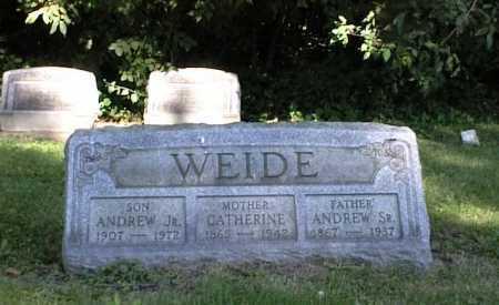 WEIDE, ANDREW JR - Belmont County, Ohio | ANDREW JR WEIDE - Ohio Gravestone Photos