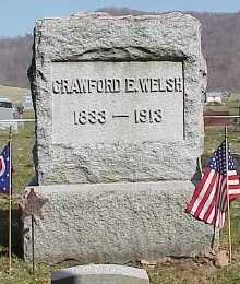 WELSH, CRAWFORD - Belmont County, Ohio   CRAWFORD WELSH - Ohio Gravestone Photos