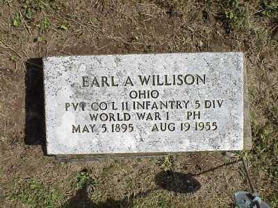 WILLISON, EARL A - Belmont County, Ohio   EARL A WILLISON - Ohio Gravestone Photos