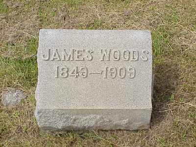WOODS, JAMES - Belmont County, Ohio | JAMES WOODS - Ohio Gravestone Photos