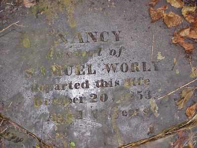 WORLY, NANCY - Belmont County, Ohio | NANCY WORLY - Ohio Gravestone Photos