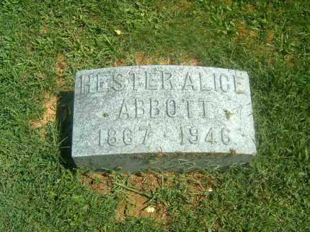 ABBOTT, HESTER ALICE - Brown County, Ohio | HESTER ALICE ABBOTT - Ohio Gravestone Photos