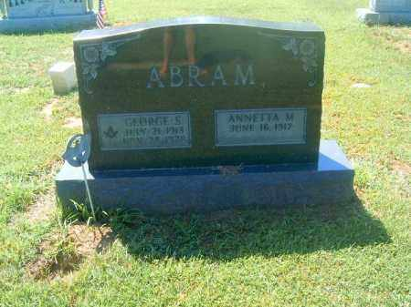 ABRAM, GEORGE   S - Brown County, Ohio   GEORGE   S ABRAM - Ohio Gravestone Photos