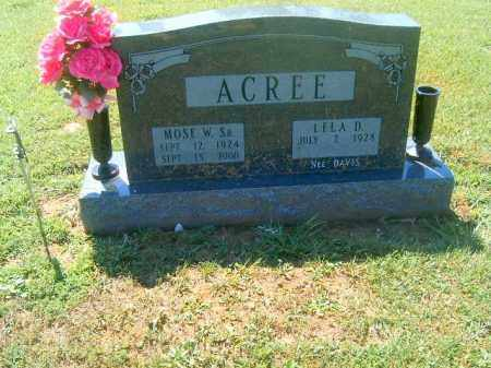 ACREE, MOSES  W  SR - Brown County, Ohio   MOSES  W  SR ACREE - Ohio Gravestone Photos