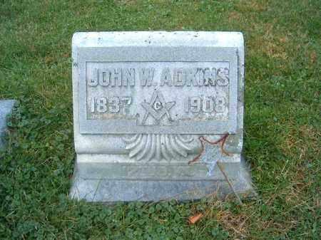 ADKINS, JOHN  W - Brown County, Ohio | JOHN  W ADKINS - Ohio Gravestone Photos