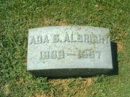 ALBRIGHT, ADA S - Brown County, Ohio | ADA S ALBRIGHT - Ohio Gravestone Photos