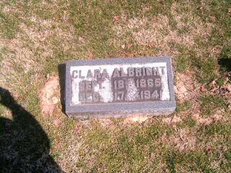 ALBRIGHT, CLARA - Brown County, Ohio | CLARA ALBRIGHT - Ohio Gravestone Photos