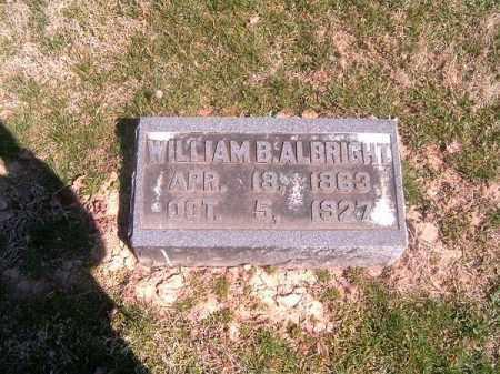 ALBRIGHT, WILLIAM   B - Brown County, Ohio | WILLIAM   B ALBRIGHT - Ohio Gravestone Photos