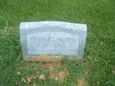 ALLEN, FRANCIS  MABEL - Brown County, Ohio | FRANCIS  MABEL ALLEN - Ohio Gravestone Photos